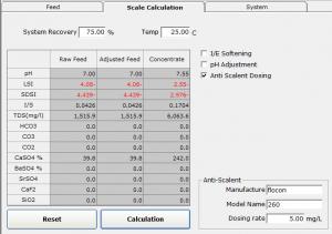 آنتی اسکالانت در نرم افزار CSMPro