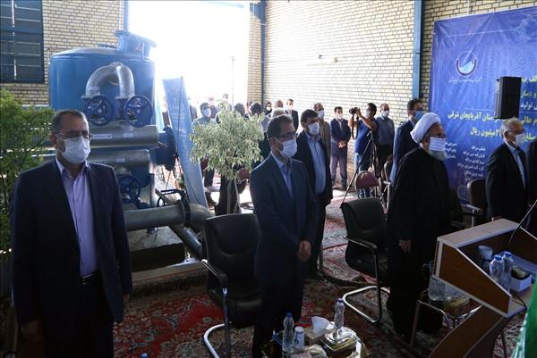 eftetah - افتتاح تصفيه خانه آب مجتمع سراجوی غربی شهرستان مراغه